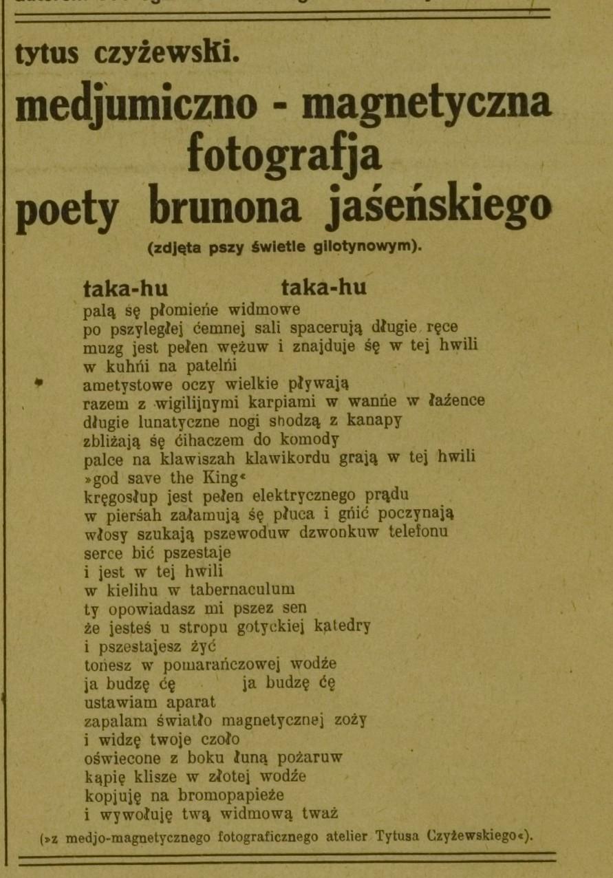 Obraz Brunon Jasieński Czyżewskiego Obraz Bruno